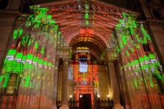 St. Steven Cathedral in Xmas illumination, Budapest, Hungary Stock Photo