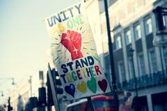 21st 2017 Styczeń, marsz kobiety Zdjęcia Stock