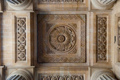 St. Sulpice Church, arcade ceiling decorations Stock Images