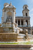 St. Sulpice Church and fountain, Paris Royalty Free Stock Photo
