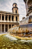St. Sulpise, París Imagenes de archivo