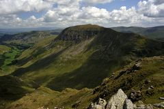 St Sunday Crag. Viewing St Sunday Crag from Dollywaggon Stock Image