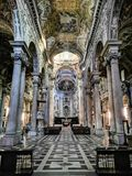 Basilica di San Siro, Genoa, Italy. St Syrus's Basilica in the city of Genova, Italia. San Siro is a Roman Catholic basilica located on the street of the royalty free stock image
