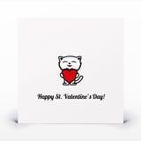 St. Tarjeta del día de tarjetas del día de San Valentín Imagenes de archivo