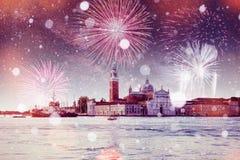 St Teken` s Vierkante Piazza San Marco en Campanile klokketoren binnen stock afbeelding