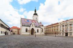 St. tekenkerk in Zagreb royalty-vrije stock foto