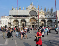 St Tekensvierkant in Venetië Italië Royalty-vrije Stock Fotografie