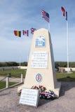 1st tekniker Special Brigade Monument, Utah strand, Normandie, Frankrike Royaltyfri Bild