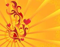 St. Tema del `s de la tarjeta del día de San Valentín Stock de ilustración