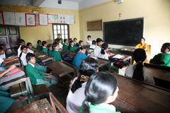 St. Teresa Girls Hihg School, Basanti, West-Bengalen Stock Afbeelding