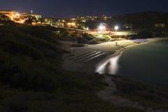 St. Teresa at night - Sardinia, Italy stock photo