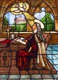 St Teresa Stained Glass Convento de Santa Teresa Avila Spain Stock Photo
