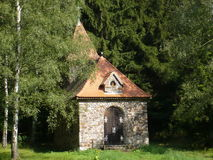 St.Terezie教堂从利雪的在捷克 库存照片