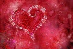 St. Textura del día de s de la tarjeta del día de San Valentín '' Fotografía de archivo libre de regalías