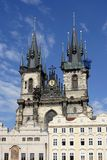 St. Teyn gothic cathedral on Old Town square Royalty Free Stock Photos