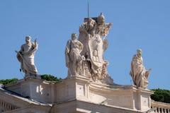 St Theobald, Theodore, Alexander VII vapensköld och St Jerome Arkivbilder