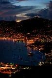 ST Thomas - ηλιοβασίλεμα Στοκ Φωτογραφίες