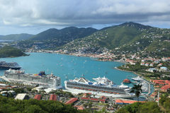 St. Thomas. Cruise ship dock, US virgin islands royalty free stock photo