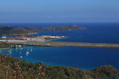 St Thomas Airport. Cyril King Airport in St Thomas U.S. Virgin Islands stock photos