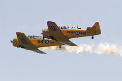 St. Thomas Airshow Canadian Harvard Association Fly By Royalty Free Stock Photo