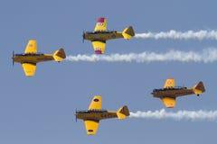 St Thomas Airshow kanadyjczyk Harvard Skojarzeniowy Lata Obok zdjęcia royalty free