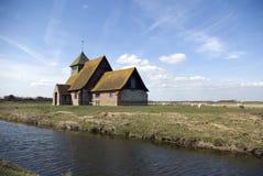 St Thomas Becket Church Fairfield. St Thomas the Becket church at Fairfield on Romney Marsh in Kent England Stock Image