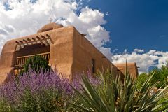 St. Thomas Catholic Church, Abiquiu, New Mexico Stock Afbeeldingen