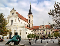 St. Thomas Church in Brno. Czech Republic. Stock Images