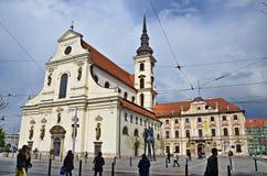 St Thomas Church en Brno República Checa Fotos de archivo