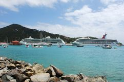 St.Thomas Cruise Liners Stock Photo
