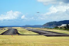 St.Thomas de Luchthaven van het Eiland royalty-vrije stock foto's