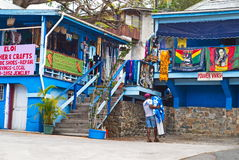 St Thomas, die US-Jungferninseln Art Market Stockbild