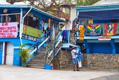 St Thomas, E.U. Ilhas Virgens Art Market Imagem de Stock