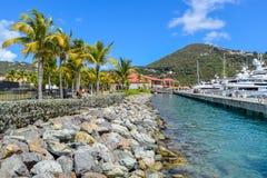 St Thomas, E.U. Ilhas Virgens - 31 de março de 2014: Locais de St Thomas imagem de stock