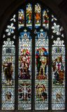 St Thomas and St Edmunds Church - Memorial Window in the South A royalty free stock images