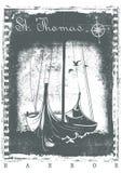 St Thomas Harbor Imagenes de archivo