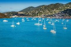 St. Thomas Harbor and Caribbean Island Royalty Free Stock Photos