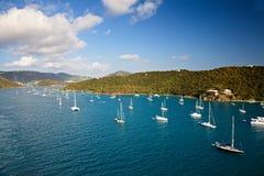 St. Thomas Harbor With Boats Royalty Free Stock Photography