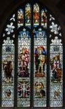 St Thomas i St Edmunds kościół - Pamiątkowy okno w południe A obrazy royalty free