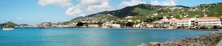 St.Thomas Island Panorama Stock Images