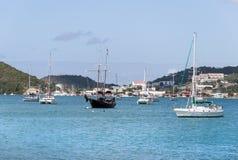 St Thomas Island Ships Immagini Stock Libere da Diritti