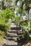 St Thomas Island Stairs Imagenes de archivo