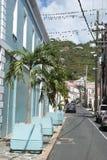 St. Thomas Island Streets Stock Image
