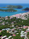 St.Thomas Island Town Royalty Free Stock Images