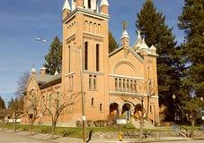 St Thomas katolsk kyrka Arkivfoto