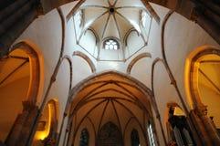 St Thomas kyrka i Strasbourg i Alsace royaltyfria foton