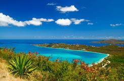 St. Thomas - Magen's Bay. A view of world famous Magen's Bay from Drake's Seat overlook in St. Thomas, USVI stock image