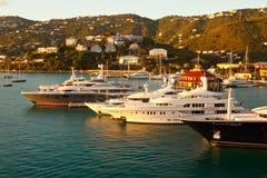 St. Thomas Marina at Sunset, Caribbean Royalty Free Stock Photo