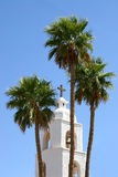 St. Thomas Mission Bell Tower. In Yuma, AZ royalty free stock photography