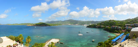 St Thomas Panorama, E.U. Ilhas Virgens, EUA Imagem de Stock Royalty Free